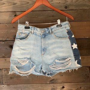Topshop moto Mom shorts